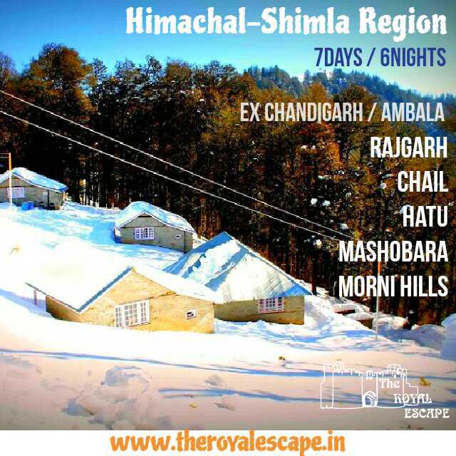 HIMACHAL – SHIMLA REGION the royal escape